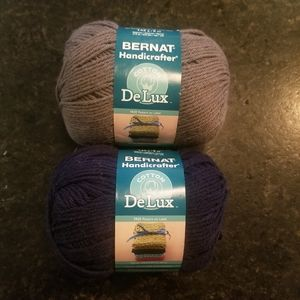 2 skeins of Bernat Cotton DeLux Yarn 4 (medium)